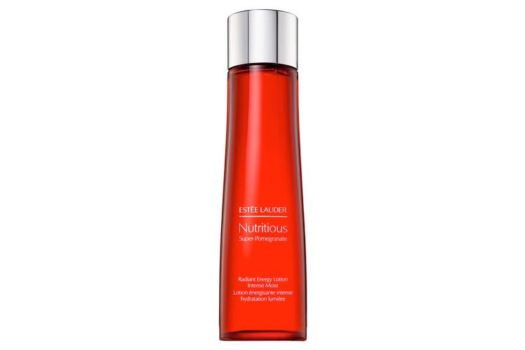 Тоник для лица, Nutritious Super-Pomegranate, Estee Lauder, обогащенный витаминами и минералами, содержит комплекс на основе эссенциисредиземноморского граната в двойной концентрации, запатентованногофермента Super-Berry, витаминови минералов, который выводит токсины и насыщает кожу влагой