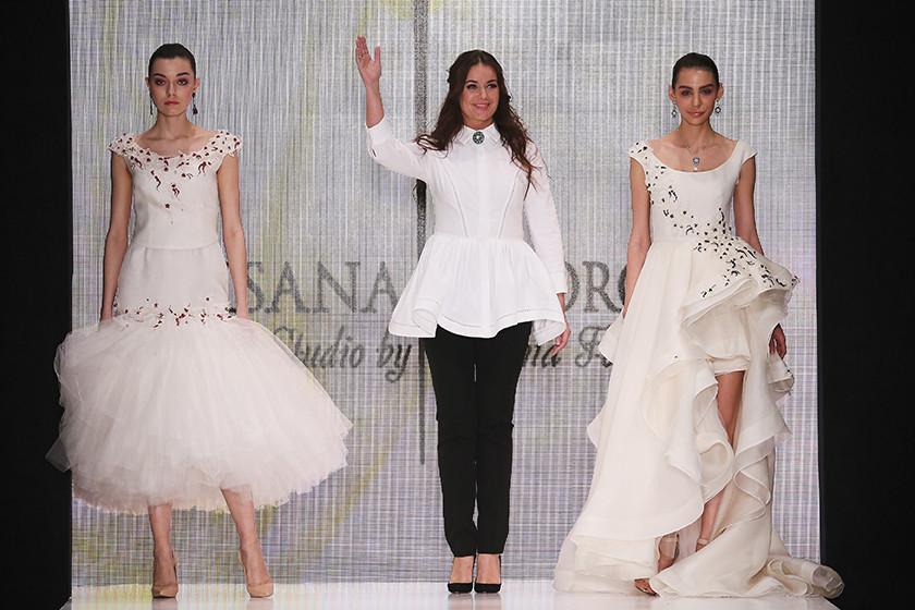 Оксана Федорова на показе собственной линии одежды