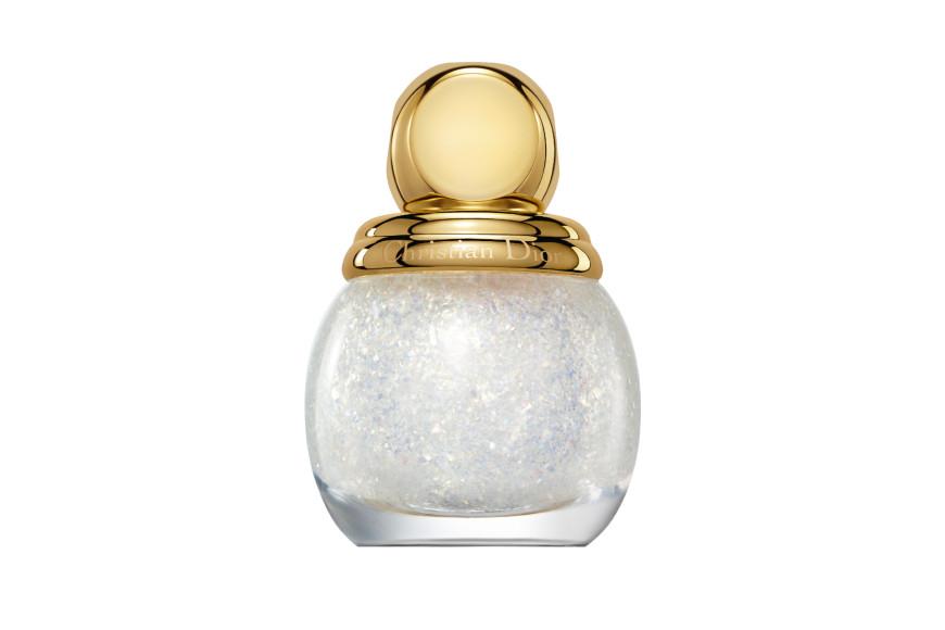 Верхнее покрытие для ногтей Diorific, оттенок 011 «Золотой снег», Golden Nights, Dior