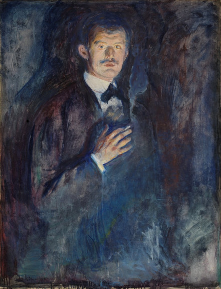 Эдвард Мунк. «Self-Portrait with Cigarette», 1895
