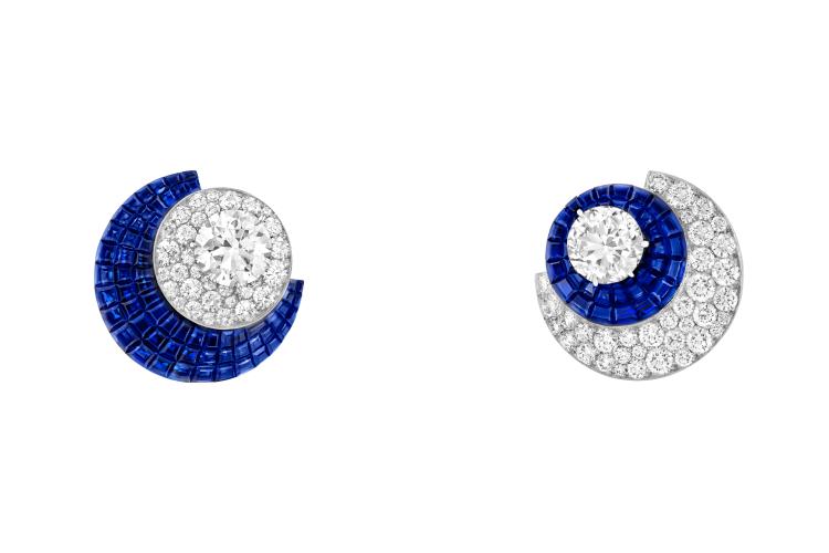 Серьги Eclipsis с сапфирами и бриллиантами