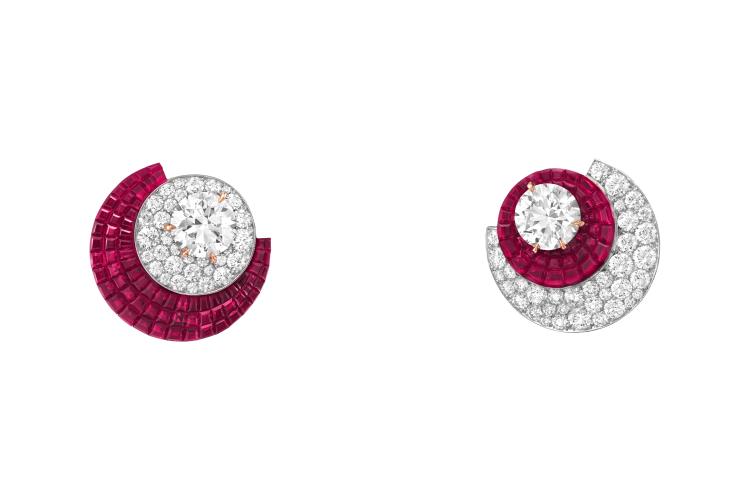 СерьгиEclipsis с рубинамии бриллиантами
