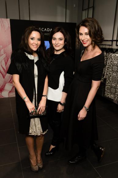 Ирина Чайковская (журналист), Елена Ваевская (Why not sky) и Даша Веледеева (главный редактор Harper's Bazaar)