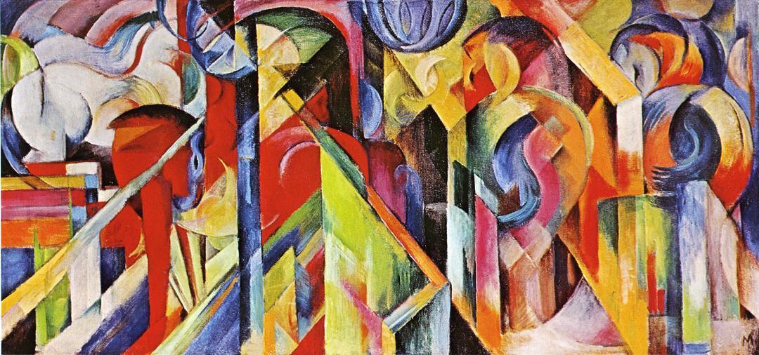 Франц Марк. «Конюшни», 1913