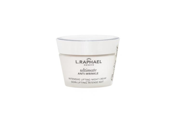 Ночной крем Intensive Lifting Night Cream, Ultimate Anti-Wrinkle, L.Raphael cтимулирует синтез коллагена с помощью белка TGF-B, уменьшает морщины и укрепляет защитный межклеточный барьер с помощью комплекса керамидов, а кроме того,интенсивно увлажняет, укрепляет, успокаивает и осветляет кожу благодаря комплексу антиоксидантов