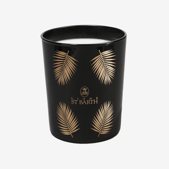 Лимитированная аромасвеча «Пальмовый лист» с ароматом имбиря, корицы, гвоздики, меда и орехов, ST BARTH. Цена: 7160 руб.