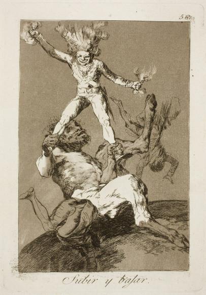 Франсиско Гойя. Гравюра «Как вознесся, так и падешь», 1799
