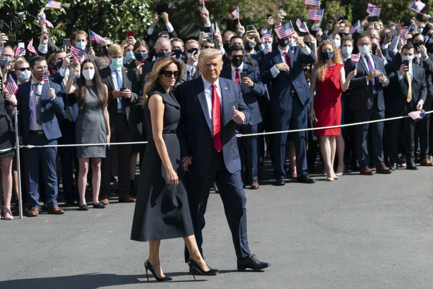 В Dior перед дебатами в Нэшвилле, штат Техас, во время предвыборной кампании Дональда Трампа, 2020 год