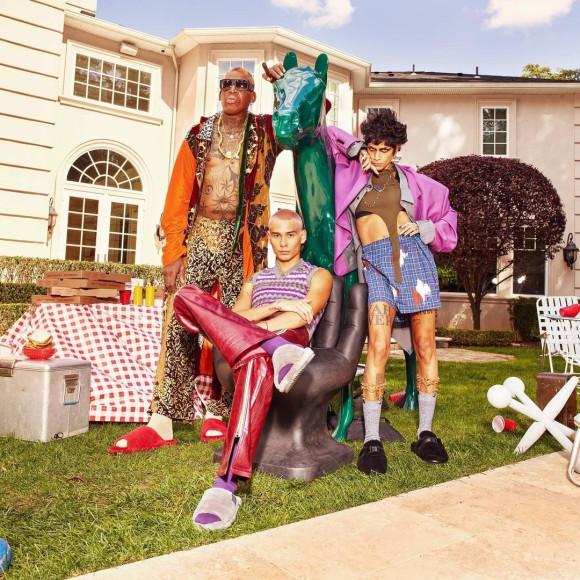 Деннис Родман, Эван Мок и Омахира Мота в рекламной кампании UGG