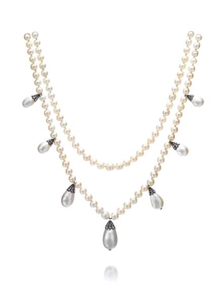 Двойное жемчужное ожерелье, Nitot et Fils, начало XIX века