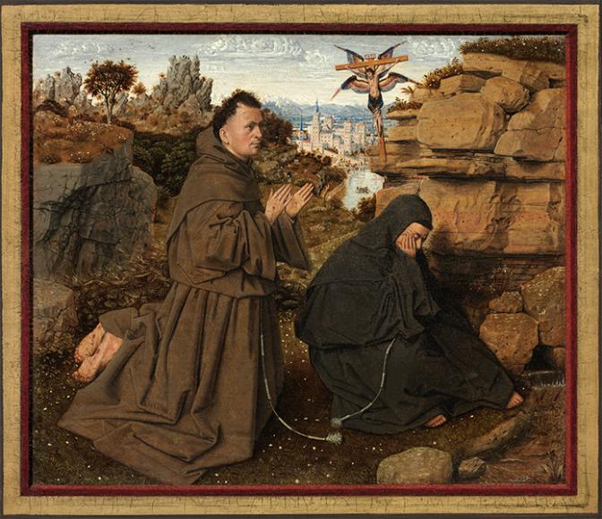 Ян ван Эйк, «Святой Франциск Ассизский получаетстигматы», 1440