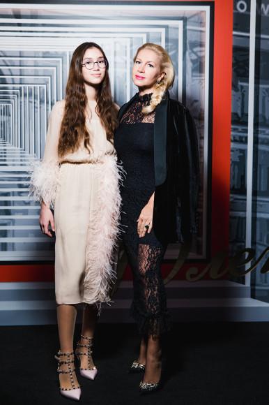 Екатерина Одинцова с дочерью Диной Немцовой