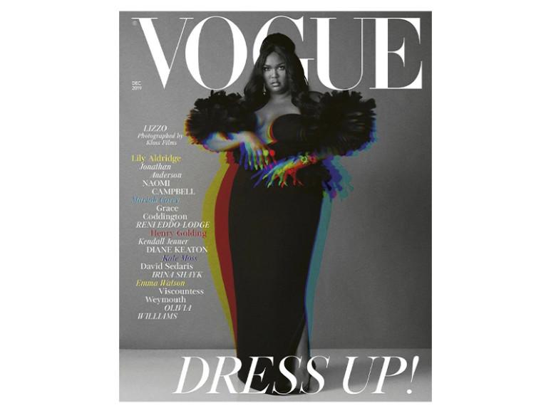 Обложка британского Vogue с использованием эффектов Glitché