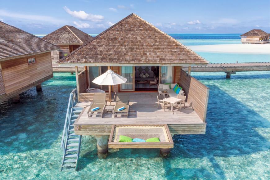 Терраса и катамаранная сетка над водой, Ocean Villa