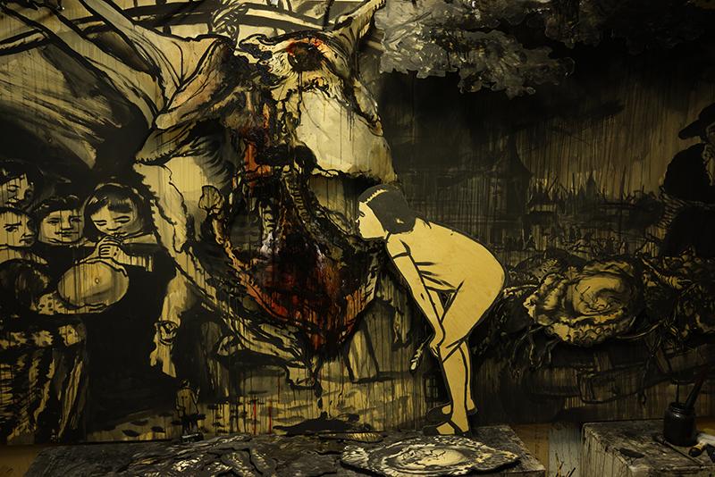 Фрагменты картины Александра Шишкина-Хокусая «Фламандская школа»