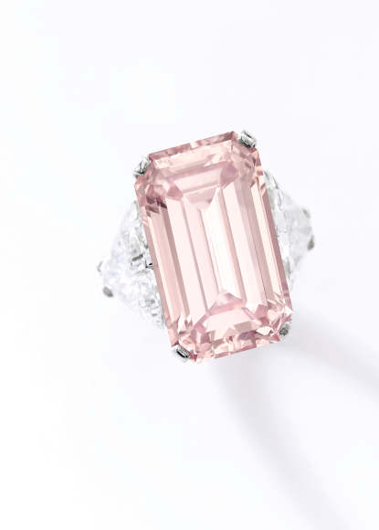 Кольцо с бриллиантом Fancy Intense Pink