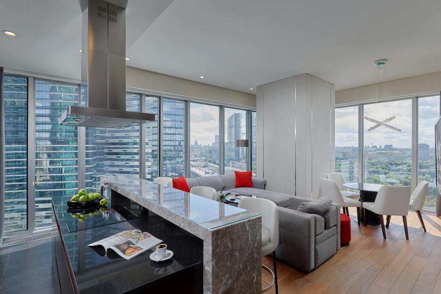 Кухня и гостиная Corner Grand Apartment