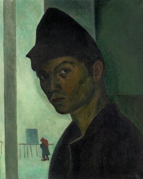 Д.Плавинский. Автопортрет, 1957