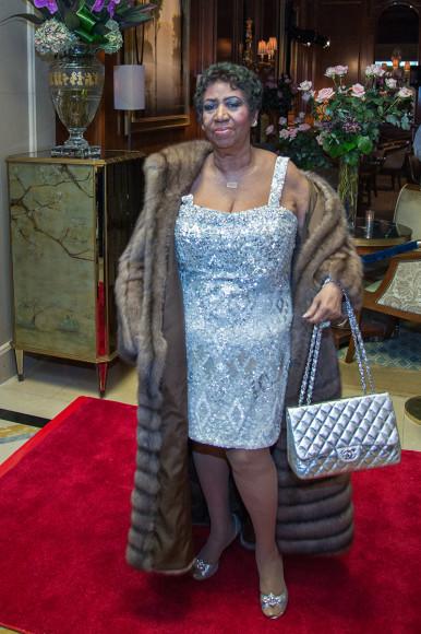 Арета Франклин на праздновании своего 73-го дня рождения в нью-йоркском The Ritz-Carlton, 22 марта2015
