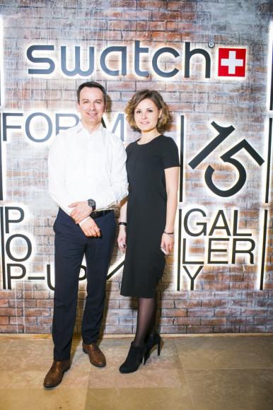 Петер Стефан, генеральный директор Swatch Rus, и Юлия Иванова, Swatch Rus