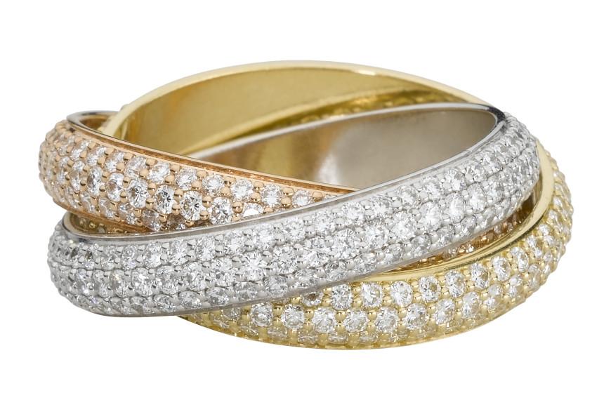 Кольцо Trinity с полным бриллиантовым паве, 2009 год