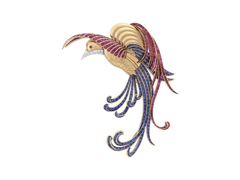 Брошь Oiseau de Paradis, Van Cleef & Arpels, 1942