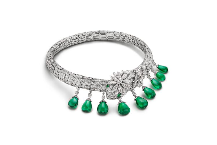 Колье Emerald Dragon, 9 изумрудов (Замбия) 66,39 карата, 1500 часов работы