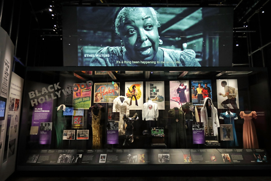 Зал музея о развлечениях и спорте афроамериканцев