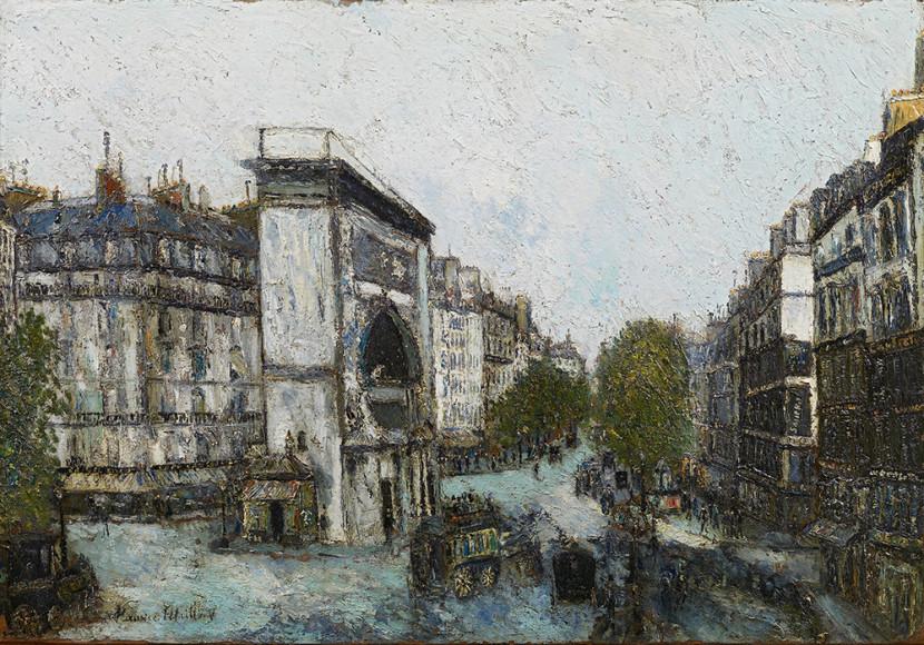 Морис Утрилло. «Ворота Сен-Мартен», 1908