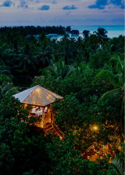 Ужин в домике на дереве на курорте One&Only Reethi Rah (Мальдивы)