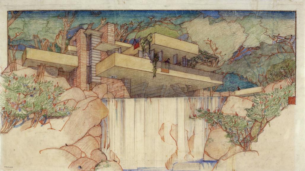Проект «Дома над водопадом». 1934–1937