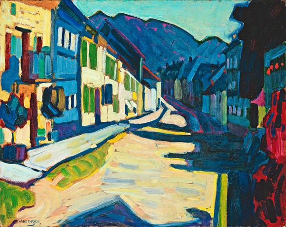 Василий Кандинский. «Мурнау– Обермаркт с горами», 1908.Из частной коллекции