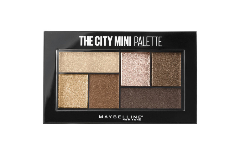 Палетка теней для век The City Mini Palette, оттенок 400 Rooftop Bronzes, Maybelline