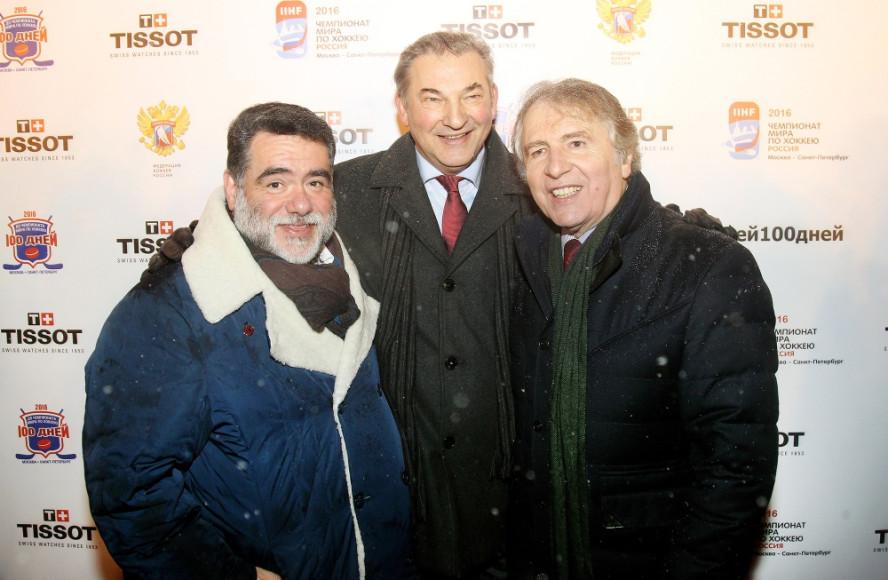 Михаил Куснирович, Владислав Третьяк и Франсуа Тьебо (Tissot)