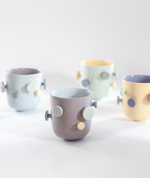 Чашка с пуговицами из фарфора KSceramics (Maisonettestore)