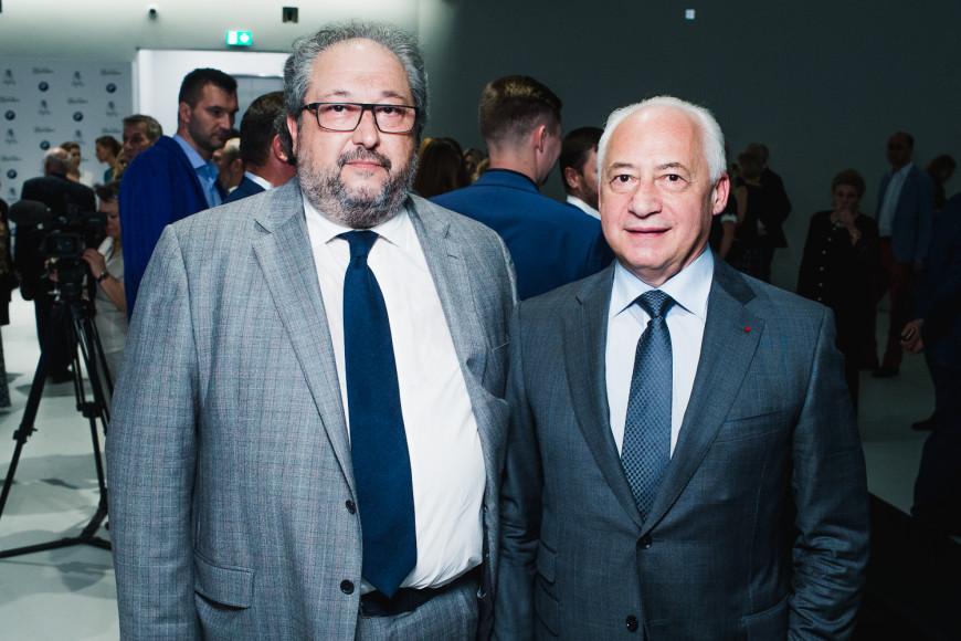 Основатель Музея русского импрессионизма Борис Минц и дирижер Владимир Спиваков
