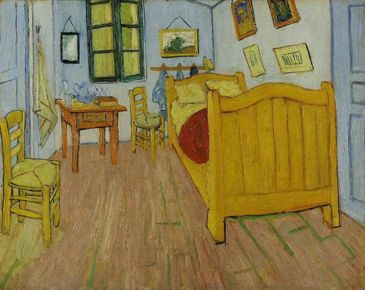 Винсент Ван Гог. «Спальня в Арле», 1888