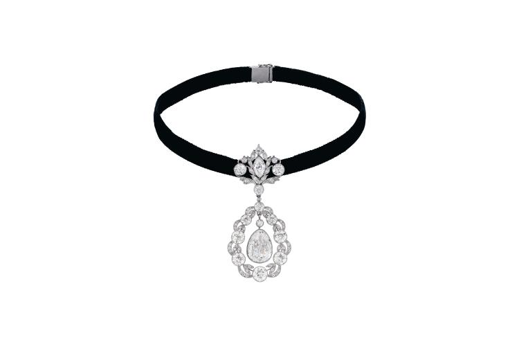 Ожерелье Charlton & Co с бриллиантовой подвеской в стиле Belle Epoque