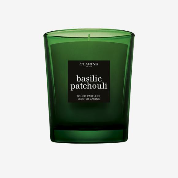 Парфюмированная свеча с нотой базилика Basilic Patchouli, Clarins. Цена по запросу