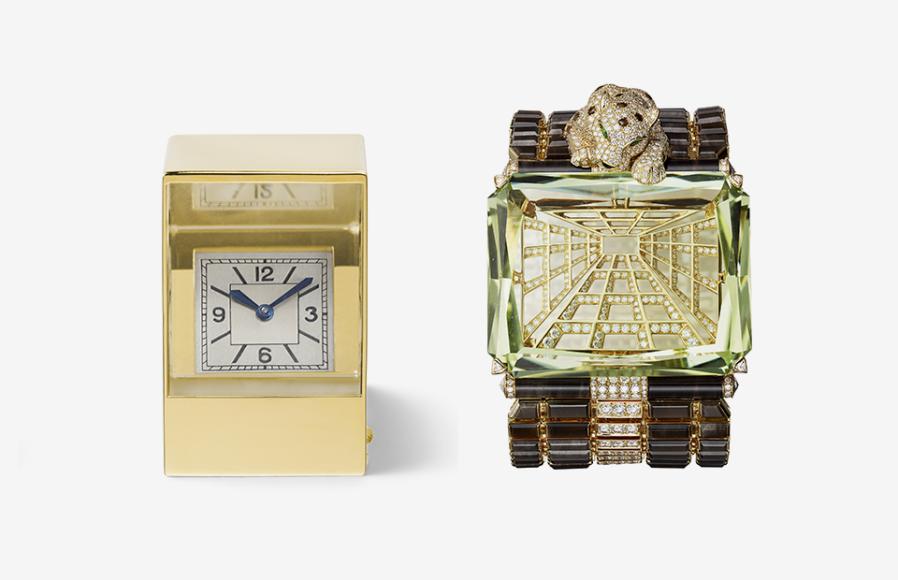 Миниатюрные часы с призмой, Cartier Paris, 1937; браслет, Cartier, 2017