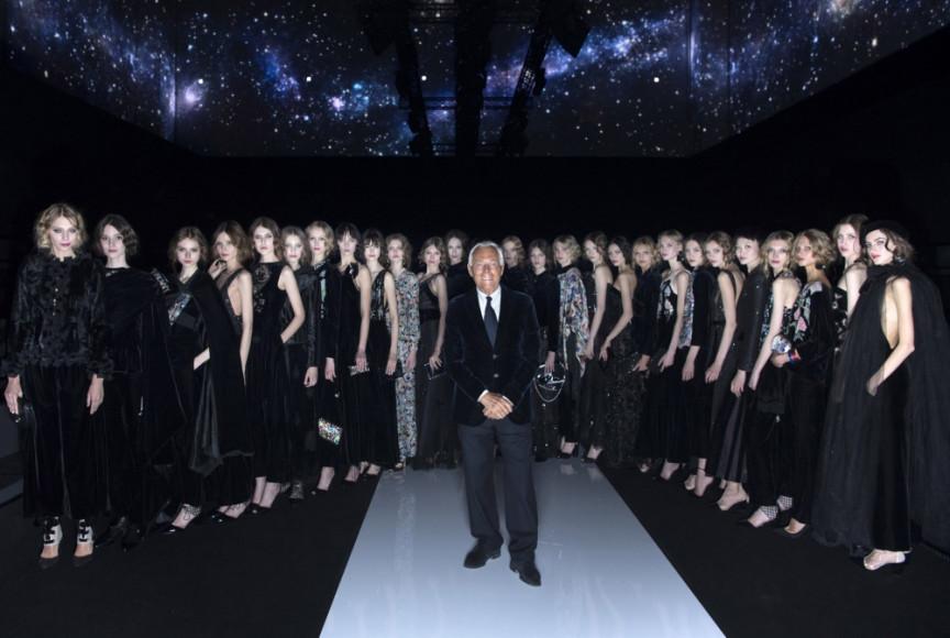 Показ коллекции Giorgio Armani осень-зима 2016/17