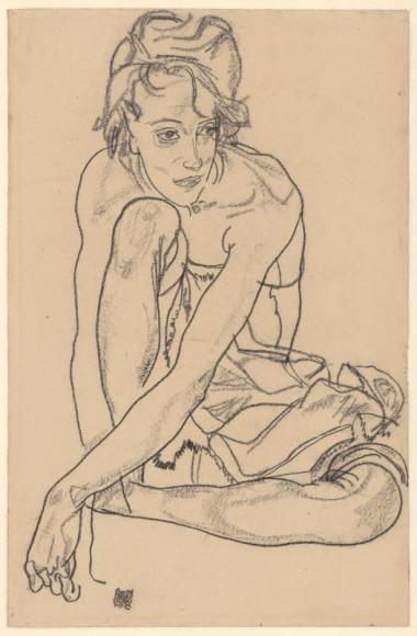 Эгон Шиле. «Скорчившаяся», 1918
