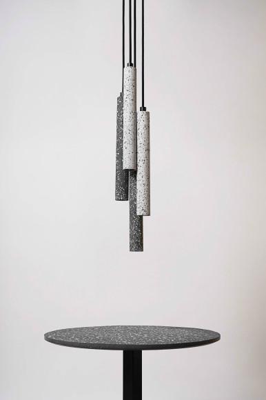 Подвесные светильники из регенерируемых керамических отходов
