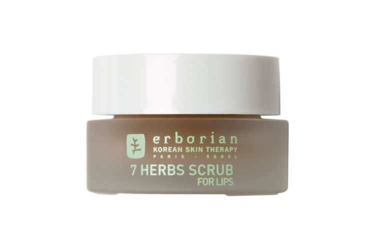 Нежный скраб для губ «7 трав», Erborian включает в себя травяной комплекс и кристаллы сахара