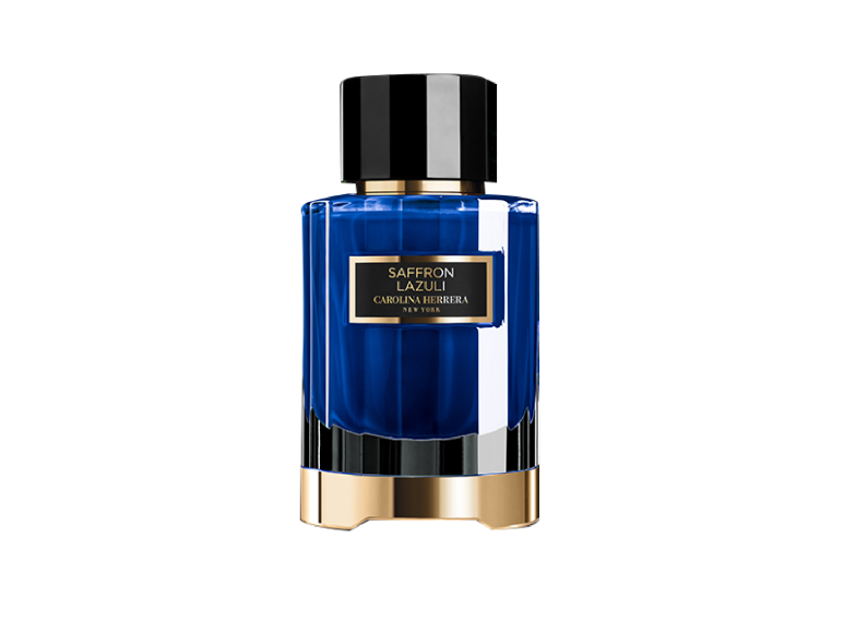 Аромат с нотами шафрана, бобов тонка, роз, ириса, ванили и кожи Saffron Lazuli, Confidential, Carolina Herrera, 100 ml,18 900 руб. (ЦУМ)