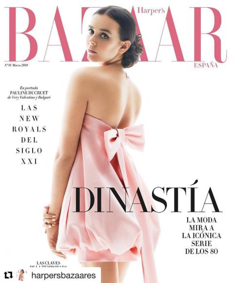 Полин Дюкрюэ на обложке испанского Harper's Bazaar, 2018