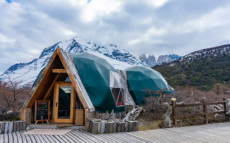 ГлэмпингEcoCamp Patagonia, Национальный паркТоррес-дель-Пайне, Чили