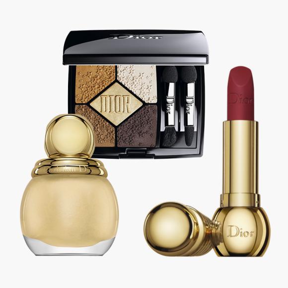 Лак для ногтей, палетка теней и помада для губ из коллекции Midnight Wish, Dior. Цена по запросу