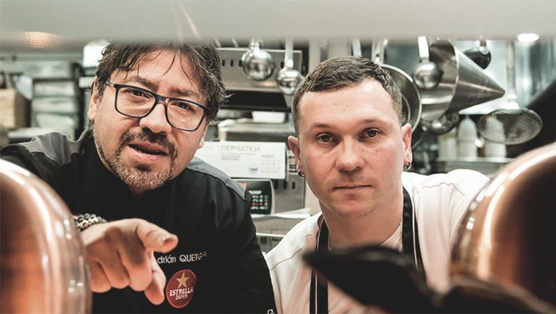Слева направо: бренд-шеф ресторана Grand Cru Адриан Кетглас и шеф-повар ресторана Grand Cru Андрей Илюшин