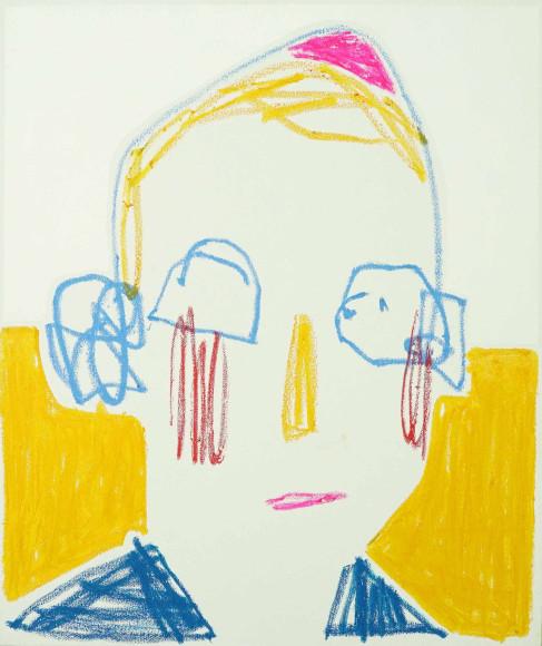 «Мальчик в пурпурной шапочке», 2020, холст, масляная пастель, акрил, 65х55 см, 31500 руб.